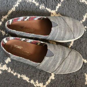Grey Toms Avalon Slip on Sneakers